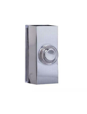 £8 • Buy Byron 7960C Wired Doorbell Additional Chime Bell Push Chrome BYR7960C