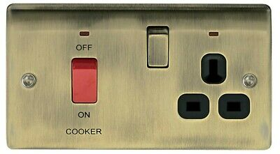 £10 • Buy Nexus Cooker Connection Unit. Antique Brass. 13A Socket + 45A Switch & Power
