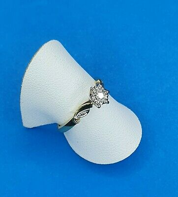 AU250 • Buy 18ct Yellow Gold & Platinum Set Solitaire Diamond Ring -Traditional Style.