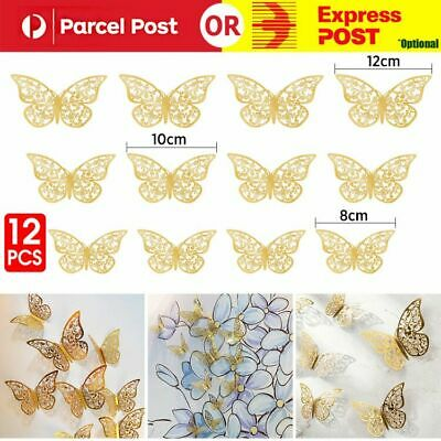 AU3.99 • Buy 12Pcs 3D DIY Wall Decal Stickers Butterfly Home Room Art Decor Decorations