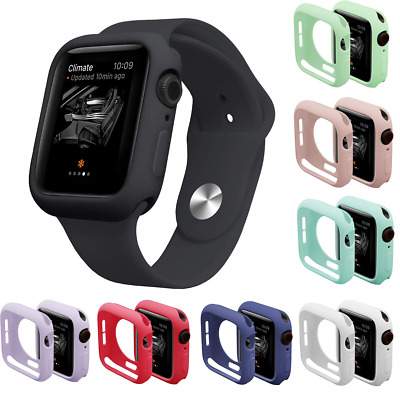 $ CDN3.38 • Buy For Apple Watch Series 6 5 4  SE Silicone Shockproof Case Cover Screen Protector