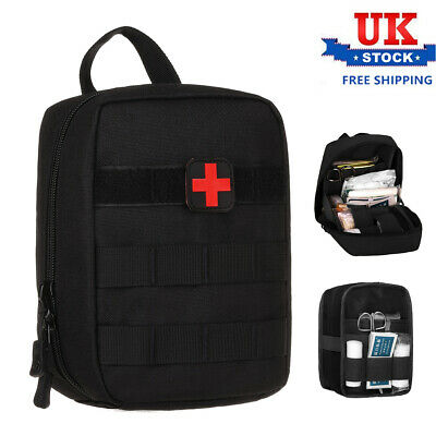 £10.79 • Buy Tactical MOLLE Pouch Medical First Aid Kit Outdoor Utility Gadget Gear Bag Black
