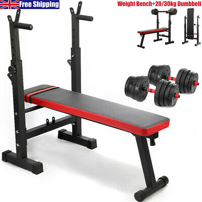 £39.99 • Buy  Adjustable Lifting Barbell Weight Bench Folding Sit Up Flat Inclin Gym Workout