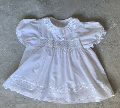 £9.95 • Buy Beautiful Vintage Baby Girl White Floral Summer Dress 3 - 6 Months From George