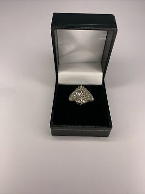 £450 • Buy Beautiful 1.00 CT Diamond Cluster Ring 9ct Gold Size O
