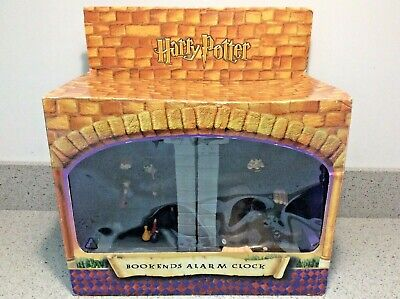 £55.95 • Buy Harry Potter With Ron Weasley & Hagrid BOOKENDS ALARM CLOCK By Zeon, BOXED/NEW