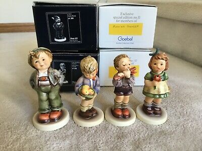 """$50 • Buy Lot Of 4 M.i. Hummel Club Exclusive Figurines Euc W/boxes ~3 Are Over 5"""" Tall"""