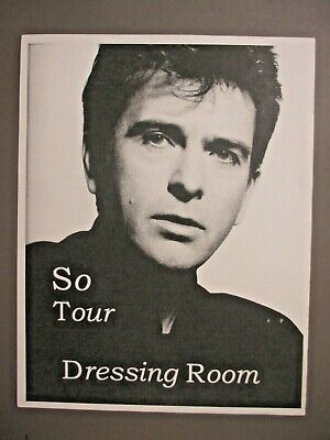 £7.15 • Buy Peter Gabriel Official Door Sign Approximately 8 1/2  X 11  So Tour Dressing Roo