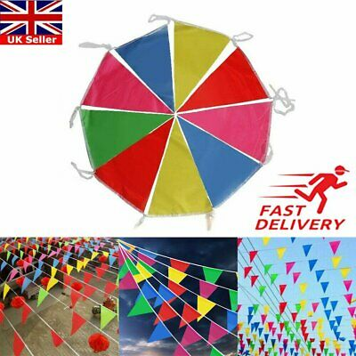 £6.07 • Buy 100M Triangle Flags Bunting Banner Pennant Festival Wedding Party Garden Decor