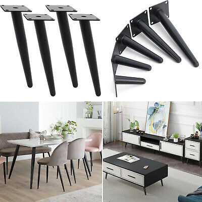 £14.95 • Buy 4x Furniture Legs Steel Tapered Feet Sofa Chair Cabinet Coffee Table Replacement