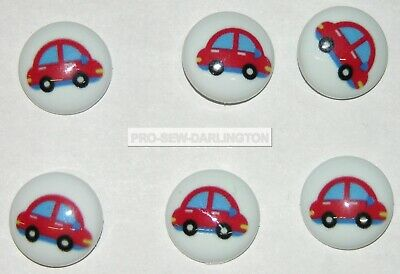 £1.99 • Buy 6 X 15mm Picture Baby Children Shank Buttons ( Choice Of Styles )
