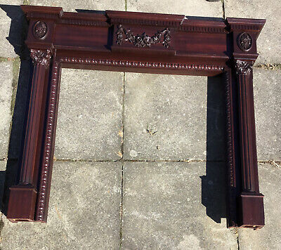 £170 • Buy 1980's Reproduction Mahogany Fire Surround. Neo Classical Style.