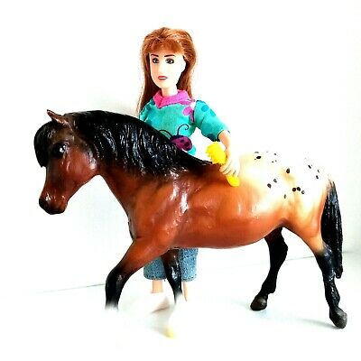 £15.99 • Buy Breyer Classics Appaloosa Pony Horse With 6.5  Abigail Articulated Doll & Brush
