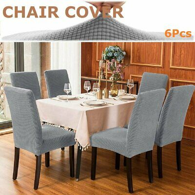 AU26.99 • Buy 6X Stretch Dining Chair Seat Cover Spandex Lycra Washable Banquet Wedding Party