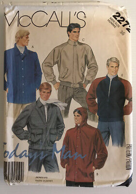 £13.50 • Buy McCall's 2272 Vintage 80s Sewing Pattern Mens' Jackets Size: 36