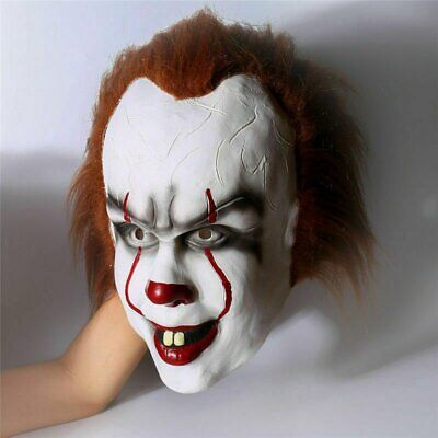 £12.49 • Buy Halloween Cosplay Scary Mask Costume Movie Stephen King's IT Clown Pennywise