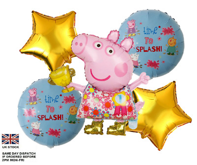 £6.50 • Buy 5pcs PEPPA PIG George Foil Balloons Children Birthday Party Decoration