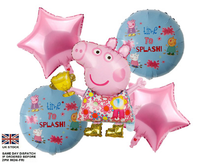£6.40 • Buy 5pcs PEPPA PIG George Foil Balloons Children Birthday Party Decoration