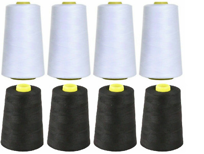 £7.49 • Buy Overlocking Thread Polyester Industrial Sewing Machine 5000 Yard X4 Cones COLORS