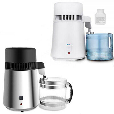 £56 • Buy 4L Water Distiller Electric Purifier Stainless Steel Glass Water Filters UK 220V