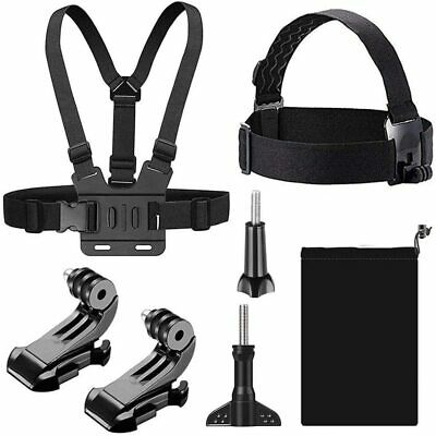 AU26.20 • Buy New T Tersely [7 In 1] Head + Chest Harness Strap Mount For GoPro Hero 9 8 7 Bla