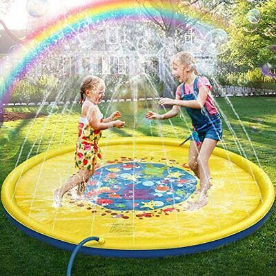 £23.47 • Buy Jojoin 68 Inches Sprinkle And Splash Water Play Mat, Durable Portable Inflatable