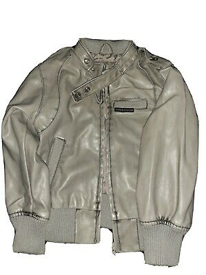 £4.25 • Buy Toddler Gray Leather Jacket Size 5/6T