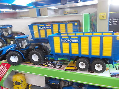£22 • Buy Siku 1947 New Holland T9.560 Tractor And Silage Trailer 1:50 Scale (BA)