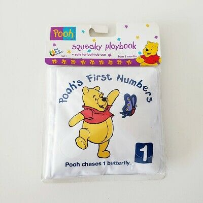 £6.47 • Buy The First Years WINNIE THE POOH Squeaky Playbook Baby Bath Numbers BookNEW