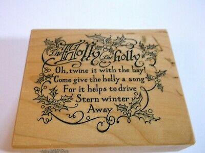 """£3.71 • Buy Holly The Holly Quote Drive Winter Away 1996 PSX 3"""" X 2.5"""" Rubber Stamp 21ST100"""