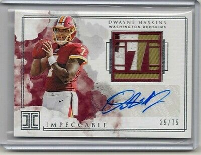 $ CDN72.86 • Buy Dwayne Haskins Impeccable Auto Rookie Card #35 Out Of #75