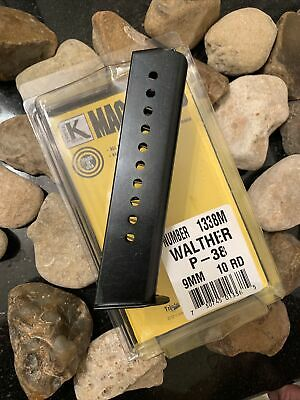 $36 • Buy Walther P38 P-38 9mm 10 Round RD Blued Steel Magazine Mag Mags EXT Mag USA Made!