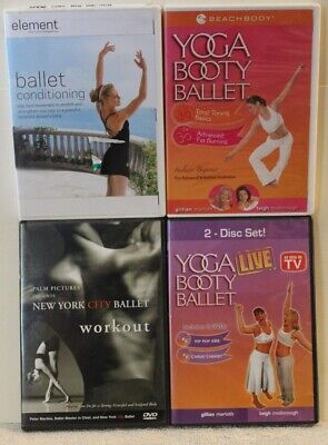 £8.38 • Buy 4 Ballet Workout DVD Lot New York City Conditioning Yoga Booty Hip Hop Abs