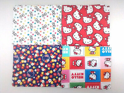 £18.99 • Buy Hello Kitty Craft Mask Making Fabric Remnants 4 Pieces Fat Quarters Remnants