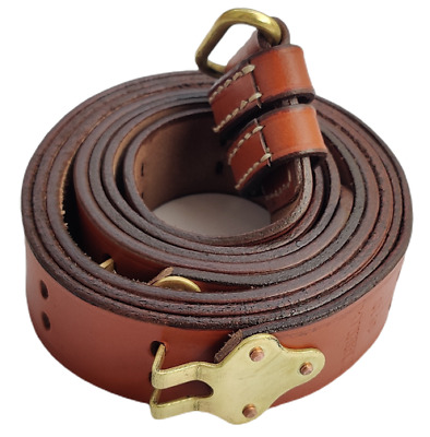 $ CDN34.46 • Buy WWII US M1 GARAND COPPER RIFLE M1907 LEATHER CARRY SLING BROWN Color