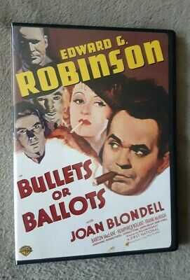 £7.99 • Buy BULLETS OR BALLOTS (1936) Edward G Robinson Film. Uk Compatible R2 DVD EXCEL CON