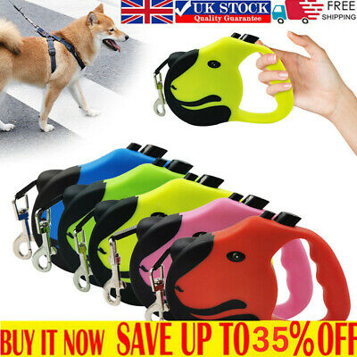 £5.56 • Buy Durable Retractable Dogs Leads Nylon Lead Extending Puppy Walking Running Leashs