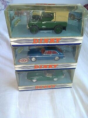 £15 • Buy MATCHBOX DINKY 3 IN TOTAL SCALE 1/43 MGB GT, Land Rover 1949, JAQUAR E TYPE