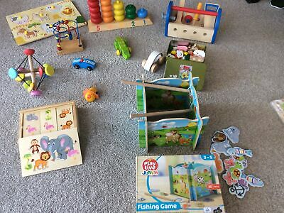 £15 • Buy Wooden Toy Bundle Boys Puzzle Game Cars Tools Counting Educational