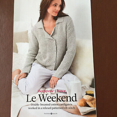 £2.65 • Buy Bergere De France - LE WEEKEND - Double Breasted Cardigan  - Knitting Pattern