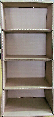£13.50 • Buy 1 Box Of 10 Eco Friendly Cardboard Display/Storage Boxes, 4 Compartments 2098