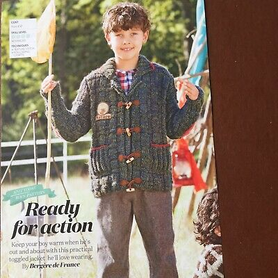 £2.65 • Buy Bergere De France - READY FOR ACTION - Boys Practical Jacket - Knitting Pattern