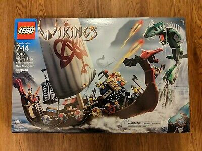 £361.44 • Buy LEGO 7018 Vikings Viking Ship Challenges The Midgard Serpent New In Box