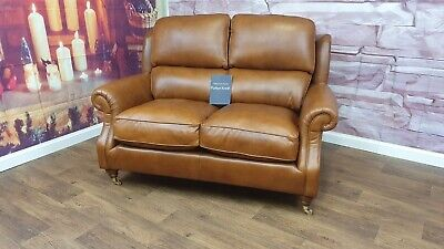 £999 • Buy Parker Knoll Oakham 2 Seater Leather Sofa Rrp £2100