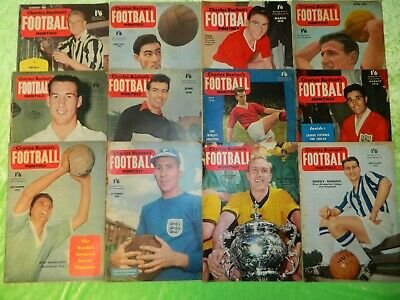£45 • Buy CHARLES BUCHAN'S FOOTBALL MONTHLY : 1958 - Complete Set Of 12 Issues (216)