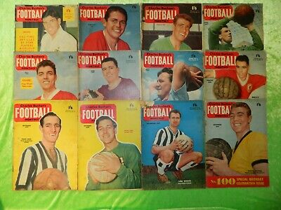 £25 • Buy CHARLES BUCHAN'S FOOTBALL MONTHLY : 1959 - Complete Set Of 12 Issues (216)