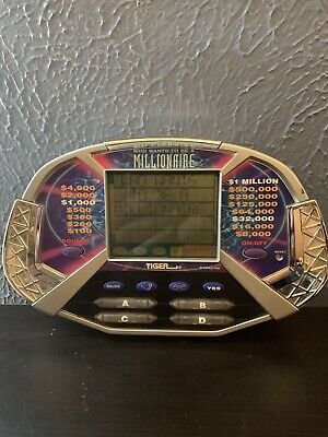 £8.52 • Buy Who Wants To Be A Millionaire Electronic Game Handheld 2000 Tiger With Manual