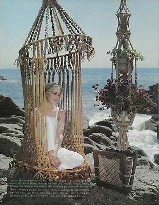 $11.95 • Buy New Ideas With Macrame Pattern Book Double Plant Hanger Chair Hamper Lamp Shade