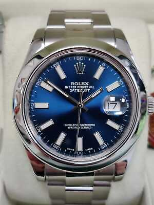 $ CDN12533.22 • Buy Rolex Date Just II 116300 Blue Dial 41mm Box And Papers (98)