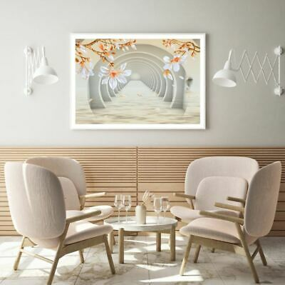 AU9.67 • Buy Colorful Flowers & Tunnel 3D Art Print Premium Poster High Quality Choose Sizes